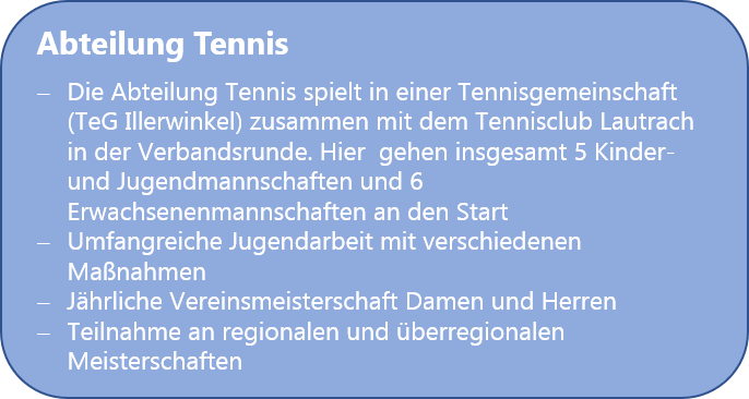Sportangebot Tennis